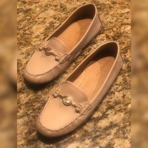 COACH Womens Beige Arlene Turnlock Loafers 👞 👞